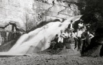Cornell students at Potter's Falls, ca. 1903. M. Paula Geiss Scrapbook, Cornell University RMC