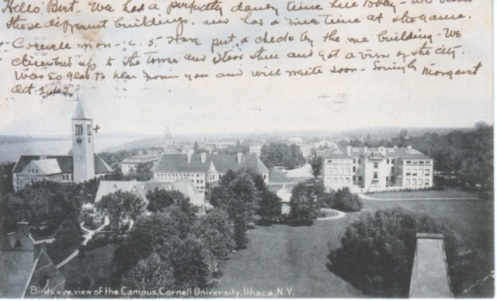 Birds eye view of Cornell campus, ca. 1903. The Rotograph Co.