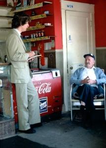 David DeKok in John Coddington's store, spring 1981 (David Haupt)