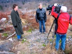 David DeKok with Paul Hunter of CBC-TV in Centralia, Pa.
