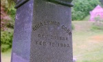 Grave of young typhoid victim in Ithaca. Photo by David DeKok