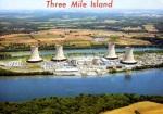 Marshall Dussinger aerial photo of Three Mile Island nuclear plants, lookingeast.
